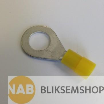 Geïsoleerde kabelschoen 6-10mm², gat M6 verpakking à 50 stuks