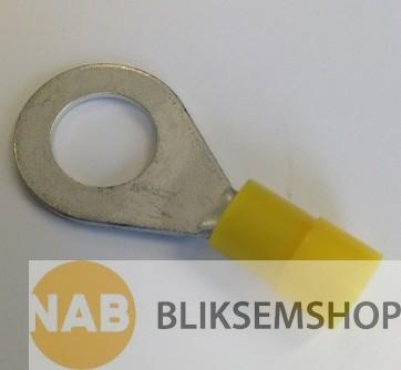 Geïsoleerde kabelschoen 4-6mm²  x M4 verpakking à 50 stuks