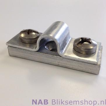Aluminium muurblokje t.b.v. 8 mm