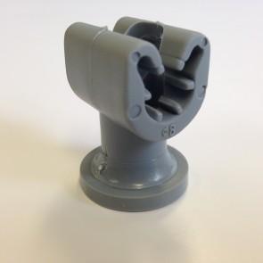 Duplohouder 8mm met draad M6 + schacht 25mm.