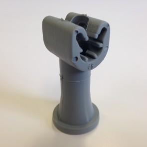 Duplohouder 8mm met draad M6 + schacht 40mm.