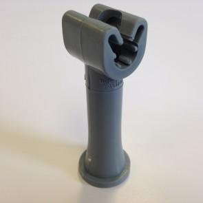 Duplohouder 8mm met draad M6 + schacht 60mm.