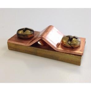 Messing/koper muurblokje t.b.v. 25mm²